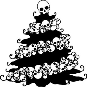 Gothic Tree With Skull Garland