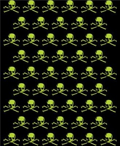 Green Skull Pattern