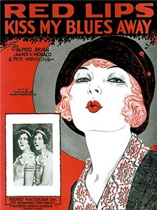 Vintage Red Lips Kiss