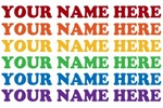 Personalized Rainbow Text