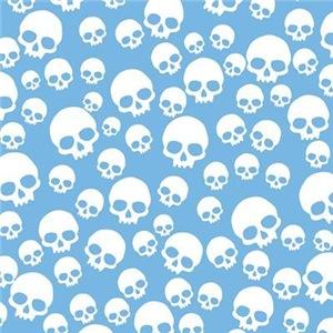 Random Skull Pattern Blue
