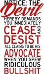 Devil's Advocate Cease And Desist