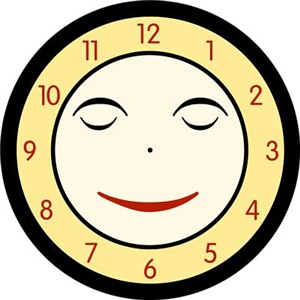 Retro Sleeping Clock Face