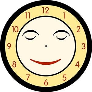 Retro Sleeping Clock Face