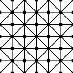 Large White And Black Grid Lattice Pattern
