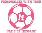 Personalized Pink Soccer Ball