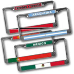 World Flag Car License Plate Frames