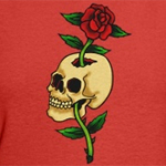 Skull with Rose Tattoo Art T-shirts