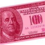 Pink Hundred Dollar Bill T-shirts