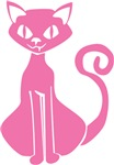 Retro Pink Cat T-shirts