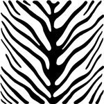 Zebra Stripe Motif T-shirts