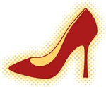 Retro Red High Heel Shoe T-shirts