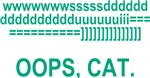 Oops Cat Typing T-shirts