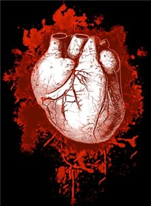 Grungy Red Human Heart