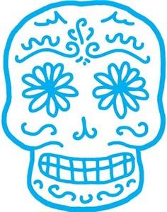 Blue Sugar Skull