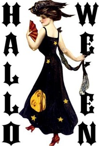 Vintage Halloween Lady