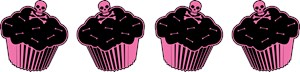 Pink Poison Cupcakes