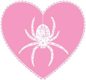 Pink Spider Heart