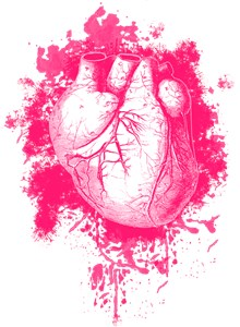 Pink Grungy Human Heart