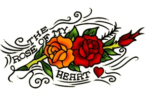 Vintage Rose Of My Heart Tattoo Art