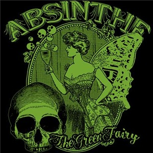 Absinthe Green Fairy Lady Collage