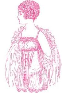 Flapper Corset Pink