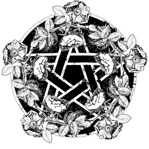 Pentacle With Roses
