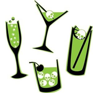 Poison Green Skull Cocktails