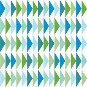 Blue Triangle Flying Geese Pattern