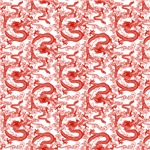 Chinese Dragon Pattern Red