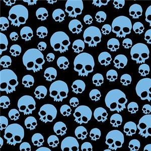 Random Blue Skull Pattern