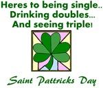 st patricks day toast clover