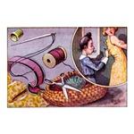 Vintage Sewing Cartoon