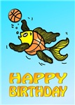 Happy Birthday, Fish Playing basketball