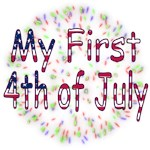 Baby First July 4th t-shirts, fireworks onesies
