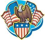 USA Eagle Flag T-Shirts