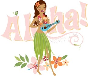Aloha Hula Girls | Hawaiian Tiki Chic Souvenir T-shirts & Gifts
