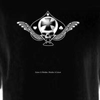 Winged Maltese Cross of Spades Skull