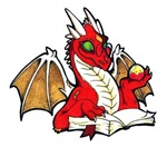 NEW: Red Bookdragon