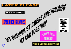 HUMOR/BUMPER STICKERS HOLD MY CAR TOGETHER