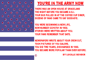 ENTERTAINMENT/POP CULTURE-YOUR IN THE ARMY NOW