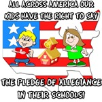 The pledge of allegiance in school