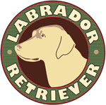 Yellow Lab Crest