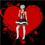 Female Valentine Wanted (Red) T-shirts & Gifts
