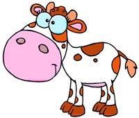 Cute Cartoon Cow