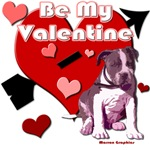 Valentines day Pit Bull design