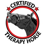 Certified therapy horse, call 1-800-whinie now!
