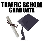 Traffic School Graduate. Motorcicle humor gifts.
