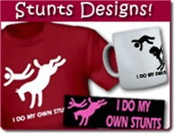 Funny 'I Do My Own Stunts' Bucking Horse Products