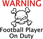 Warning Football Player
